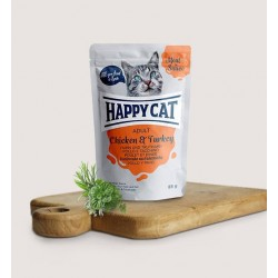 Happy Cat Vlees in Saus Kip&Kalkoen